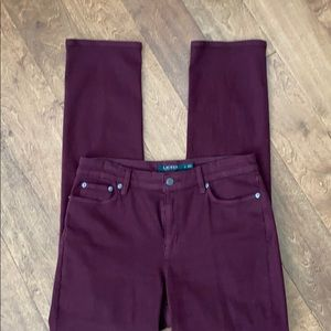 Lauren Ralph Lauren burgundy straight leg pants